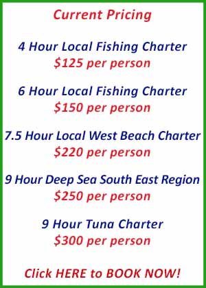 Go Get Em Fishing Charters SA Special Pricing